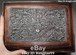 10 Chinese Wood Dragon Cabinet Jewelry box Casket Jewellery Case Statue