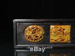 10 Chinese old antique Sandalwood wooden handcarved Imbue Jade Jewelry box