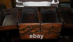 11Old Chinese Bronze Huanghuali Wood Carved Ancient Jewelry boxes storage box