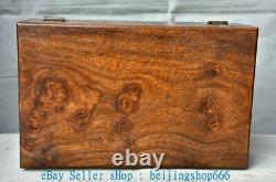 11 Rare Old Chinese Dynasty Huanghuali Wood Hand Carved Jewelry box jewel case