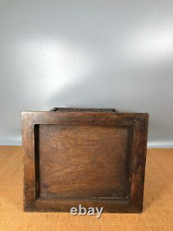 12'' Chinese Antique Wood Box natural Old Rosewood Box Jewelry Box