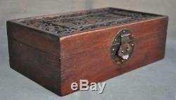 12 Old Chinese Huanghuali wood Hand carved Deer Statue Storage Boxs Jewelry Box