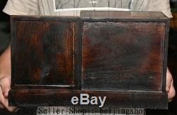 15 Rare Old Chinese Huanghuali Wood Dynasty Drawer Mirror Cupboard Jewelry Box