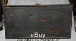 20 Antique Chinese Dynasty Palace Huanghuali Wood Carved Storage Jewelry box