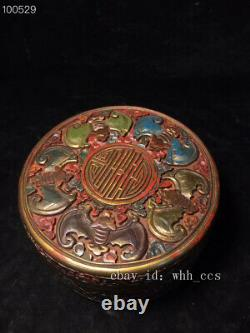 5.6 Chinese antique Qing dynasty Qianlong lacquer ware jewelry box