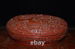 6.7 Exquisite Chinese old antique Lacquer ware flower Jewelry box
