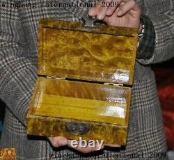 8 Chinese palace Gold Phoebe wood hand carved statue Jewelry Box storage boxes