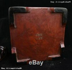 8 Old Chinese Carved Lacquerware TiXi craftwork casket jewel Box Jewelry boxes