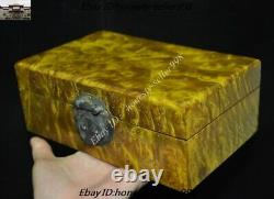 8 Old Chinese Dynasty Gold-rimmed nanmu Wood Carved jewellery Jewelry Box Boxes