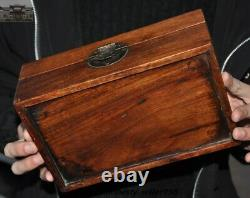 9 Antique Chinese Huanghuali wood dynasty vessel Box Jewelry Box storage Boxes
