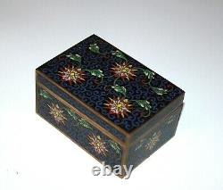 A19th/20th Century Chinese cloisonne box enamel jewelry box 887
