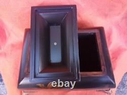 Antique Chinese Oriental wooden jewelry large box hand painting 25x40x35cm