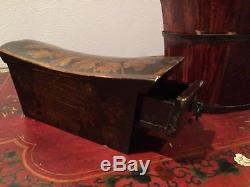 Antique Chinese PILLOW Wood Jewelry Box