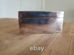 Antique Chinese Sterling Silver Cigar Jewelry Box Cigarette Case Wood Lined 6