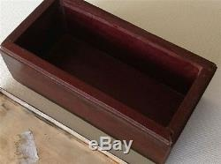 Antique Chinese carved rosewood enameled silver Deco jewelry box (m990)