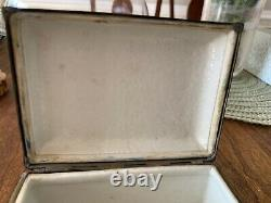 Antique Chinese porcelain jewelry box