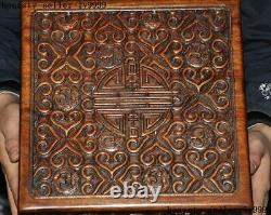 Antique Old Chinese Huanghuali wood dynasty Jewelry vessel Box storage box Boxes