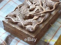 Asian Dragon Carved Jewellery Box