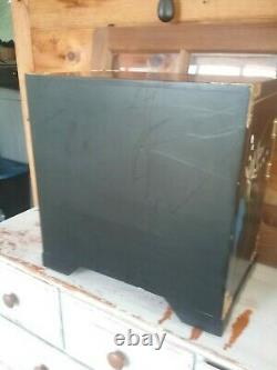 Beautiful Large Asian Jewelry Box Chest, Black, Gorgeous Large Chest CleanHeavy