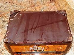 Beautifully Carved Antique Chinese Wood Carved Jewelry Box Boxes W Lock No Key