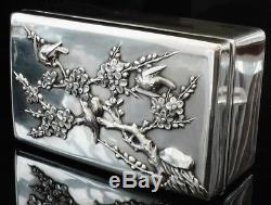 Chinese Export Silver Jewellery Box, Wang Nam & Co c. 1900