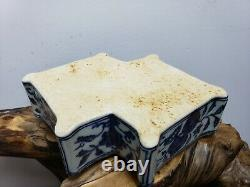 Chinese Hand Painted Blue &White Porcelain Jewelry Box
