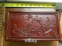 Chinese Huanghuali wood Hand carved Storage Box Jewelry Box