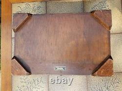 Chinese Mid Century Rosewood George Zee Silk Wooden Jewelry Box Chest Hong Kong
