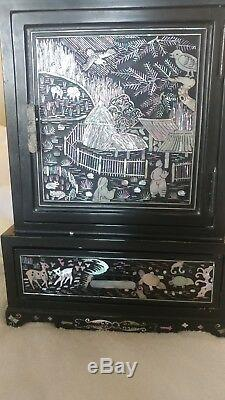 Chinese Mother Of Pearl Jewelry Box