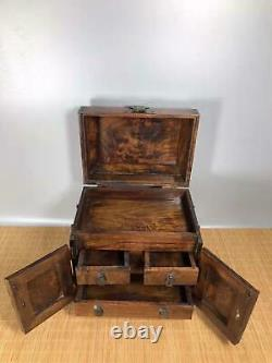 Chinese Natural Rosewood Hand carved Exquisite Jewelry Box 3337