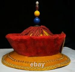 Chinese Qing Dynasty Palace collection emperor hat + Box