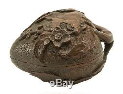 Chinese Wood Carved Jewelry Box (Peach Shape)