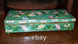 Chinese cloisonne antique jewelry thinker box dates to early 20th century