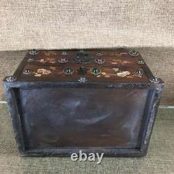 Chinese exquisite red sandalwood handmade double-layer jewelry box 22330