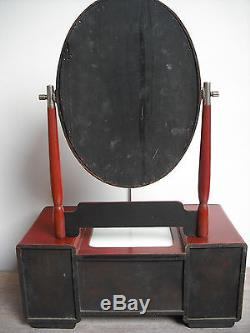 Early C20th Japanese Dressing Table Mirror jewellery/box/not/tansu/chinese