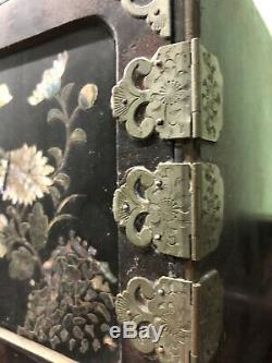 Estate Find Antique Chinese Jewelry Box Early 1900s Mother Of Pearl