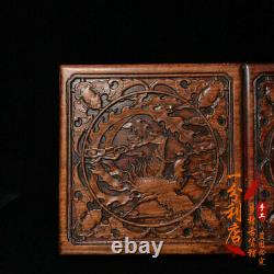 Exquisite Chinese old antique handcarved Rosewood Dragon Phoenix Jewelry box