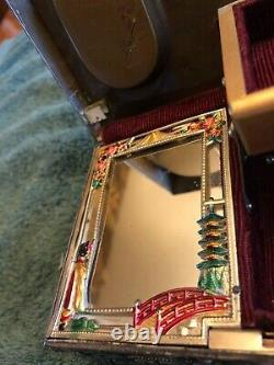 Gorgeous Vintage Asian Dragons Tiger 4 Foo Dogs Music Jewelry Box Metal Heavy