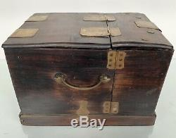 Item# 27. Vintage Chinese Make Up Jewelry Box With 6Drawers, Built In Mirrors