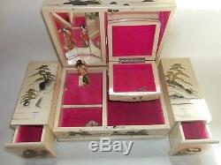 Japanese 1954 Jewelry Box With Dancing Doll