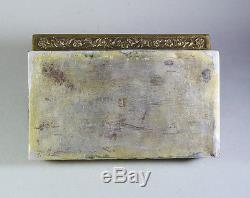 LATE 19th 385 GR. ANTIQUE CHINESE EXPORT SILVER-GILT JEWELRY BOX CASE QING DYNAS