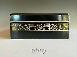Large Lacquer Box Carved Jade or Hard / Soft Stone Chinese Jewelry Antique Rare