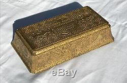 Large Tiffany Studios Chinese Pattern Jewelry Box Excellent Original Condition