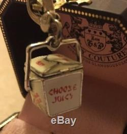 NEW JUICY COUTURE Collectible Silver Chinese TAKEOUT BOX CHARM