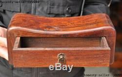 Old Chinese Huanghuali wood dynasty pillow Drawer Jewelry Box storage box Boxes