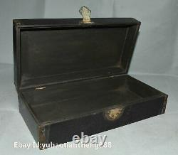 Old Chinese Rosewood wood Hand carved Storage jewelry Box Boxes Chest Furniture