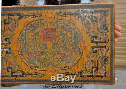 Old Chinese lacquerware wood phoenix Qing Qianlong Marked Jewelry storage boxes
