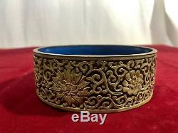 Rare Chinese Cinnabar Hand Carved White Lacquer Jewelry Jar Box