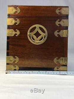 Vantage Chinese Rosewood Jewelry Box
