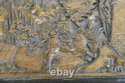 Vintage Carved Wooden Camphor Chest Box Trinket Jewelry Chinese Ornate